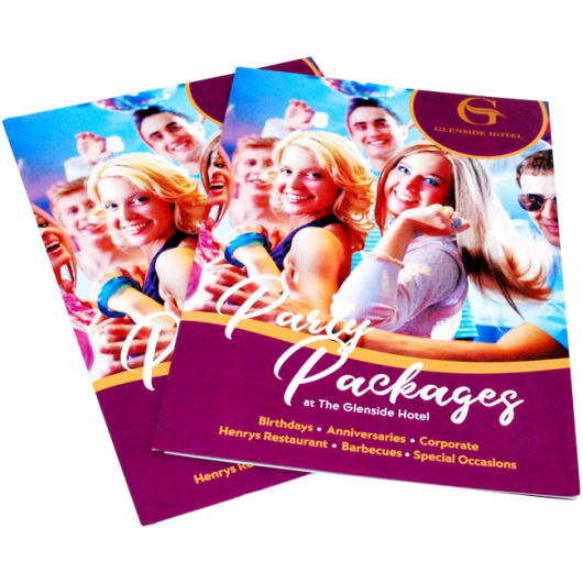 The Glenside Hotel Party Packages Leaflets