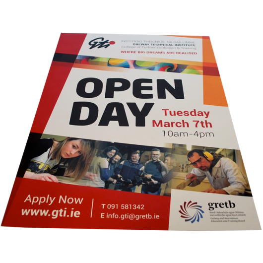 Galway Technical Institute Open Day Poster