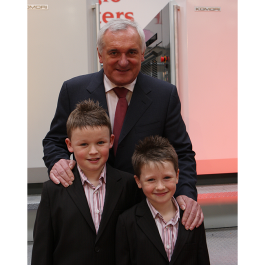 Anglo Celebrating 25 Years in Business - 9th October 2008. Taoiseach Bertie Ahern, Aaron Kierans & Ged Kierans