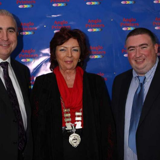 Anglo Celebrating 25 Years in Business - 9th October 2008. Padraic Kierans, Drogheda Chamber President Patricia Rooney & Peter Kierans