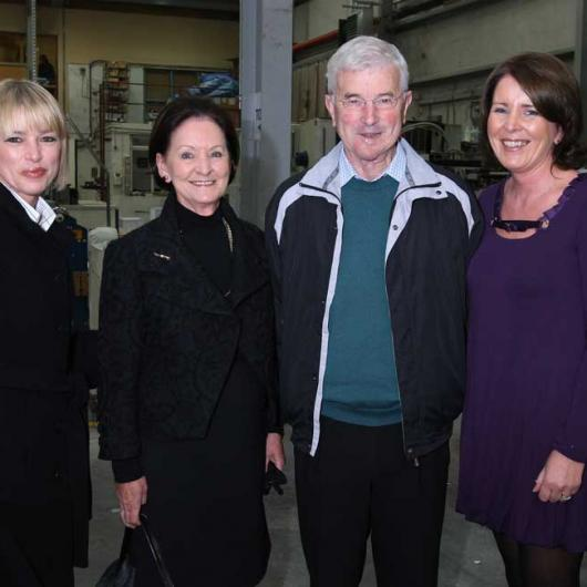Anglo Celebrating 25 Years in Business - 9th October 2008. Ailish, Eileen & Liam O'Donohoe with Jean Kierans