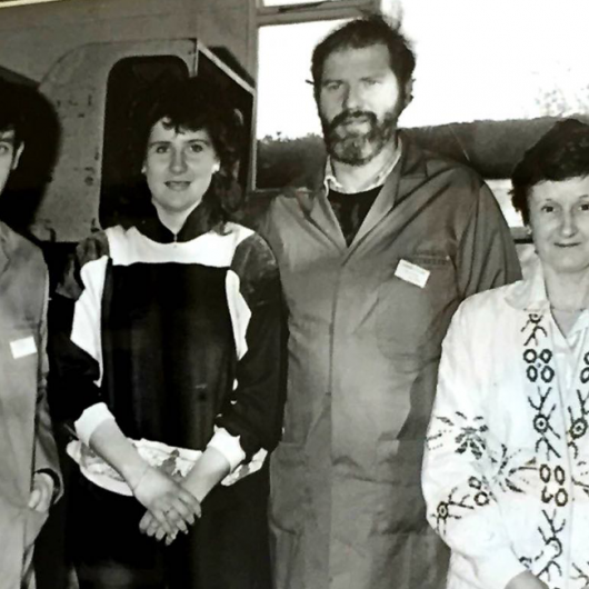 Open Day February 1989. Stephen McDonnell, Fiona McDonnell, Damian Callan & Mai Sarsfield