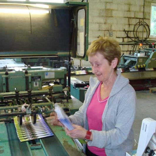 Mai Sarsfield completes final job in old Bindery, 2007