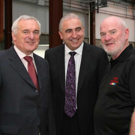 Anglo Celebrating 25 Years in Business - 9th October 2008. Taoiseach Bertie Ahern, Padraic Kierans & Damian Callan