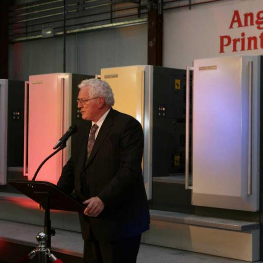 Anglo Celebrating 25 Years in Business - 9th October 2008. Seamus Kirk TD