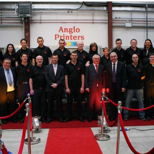 Team at Anglo Printers Celebrating 25 Years in Business - 9th October 2008